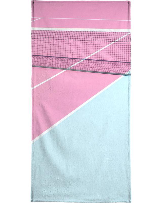 Pink Court Net Strandtuch | Bad > Handtücher > Saunatücher