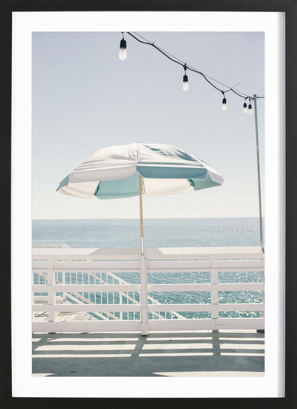 Blue Malibu Single -Bild mit Holzrahmen