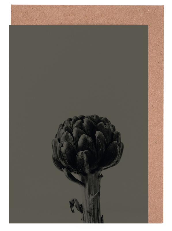 Artichoke Brown Grußkartenset | Dekoration > Accessoires | Mehrfarbig