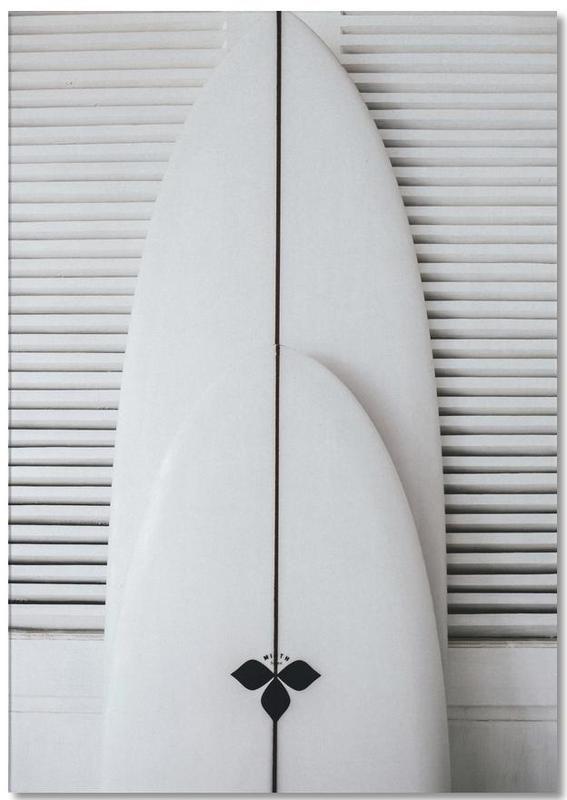 Beach Surf Board Symmetrie -Notizblock