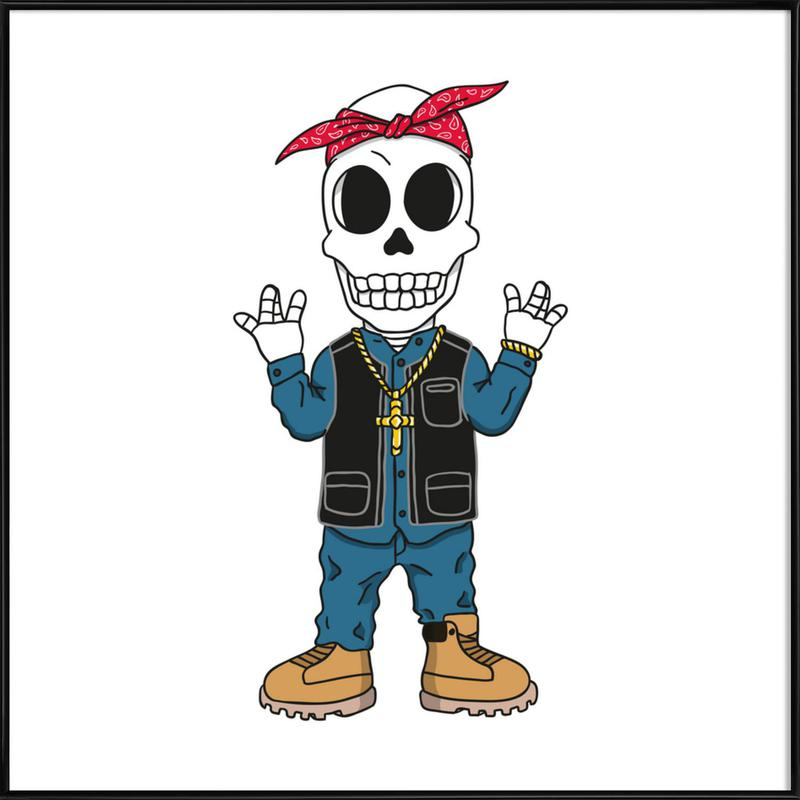 West Coast Skull ingelijste poster