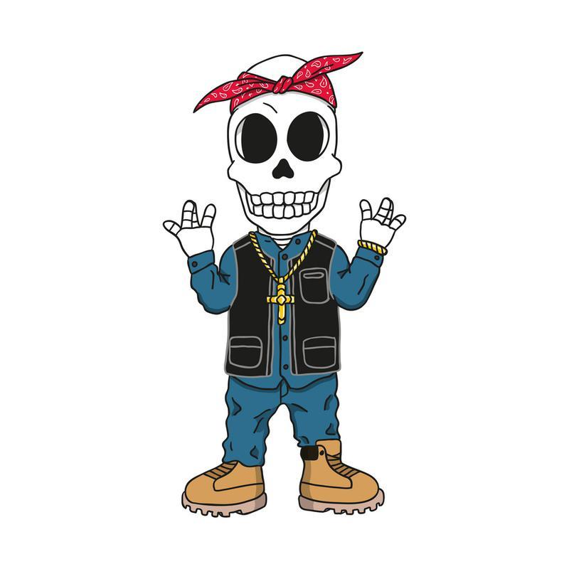 West Coast Skull canvas doek