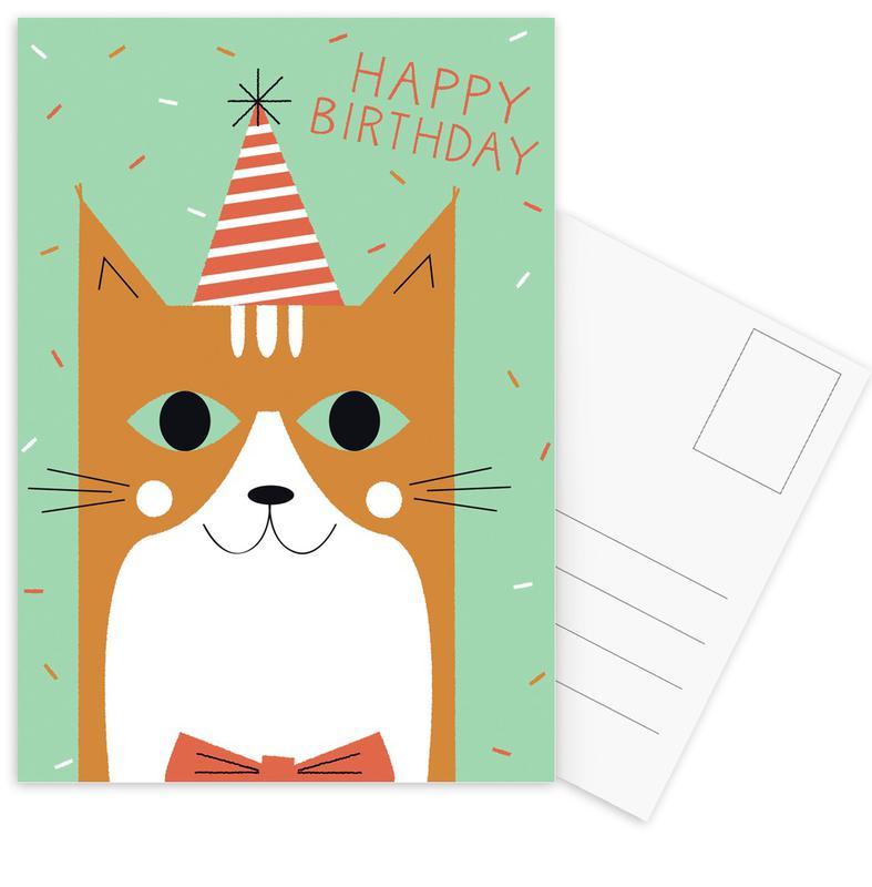 Happy Cat Birthday -Postkartenset