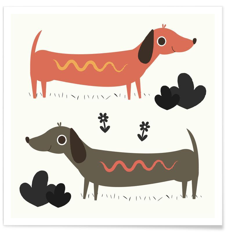 Wiener Dogs -Poster
