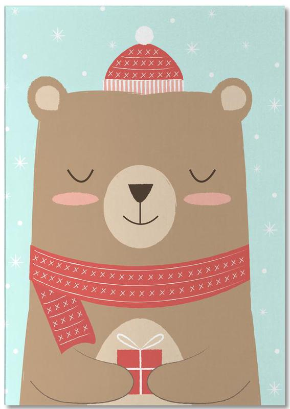 Merry Christmas Bear -Notizblock