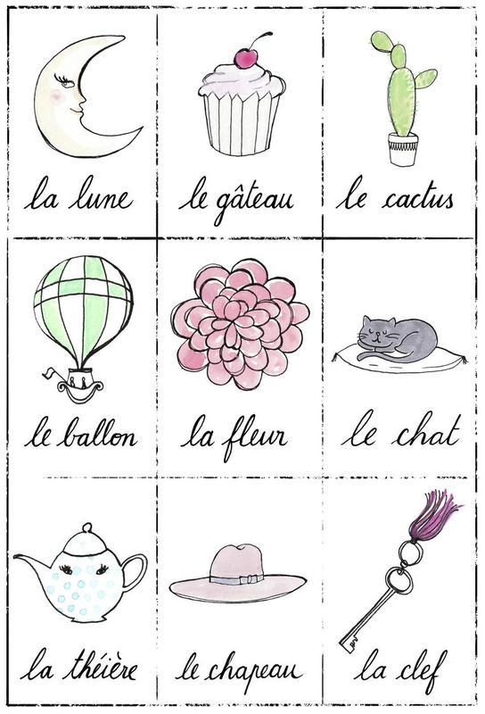 Petit cours de français 2 Acrylglasbild | Dekoration > Bilder und Rahmen > Bilder | Mehrfarbig | Aluminium