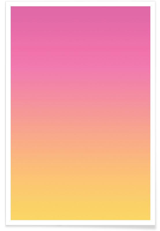 A Flamingo Sunset Premium Poster   Dekoration > Bilder und Rahmen > Poster   Mehrfarbig