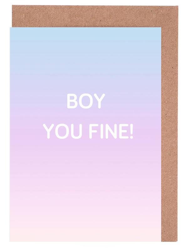 Boy You Fine Grußkartenset