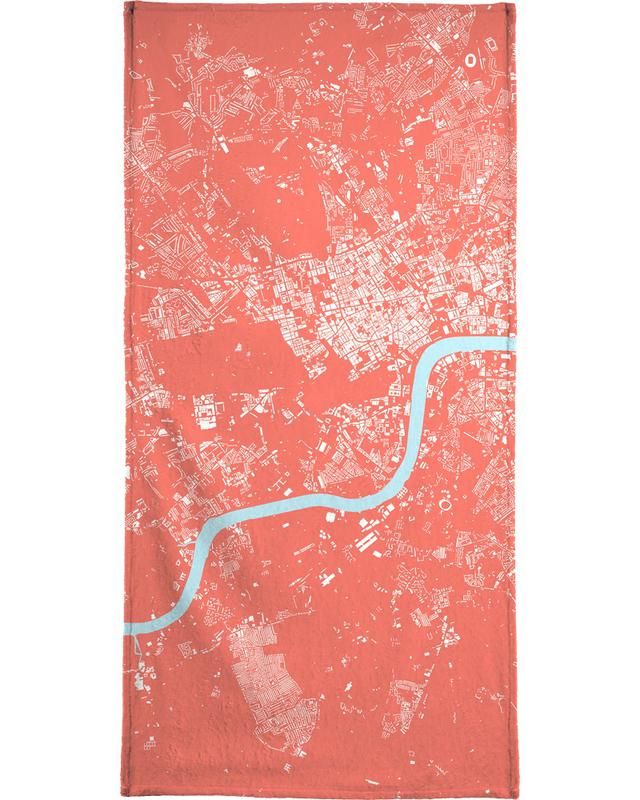 London Pink Bath Towel