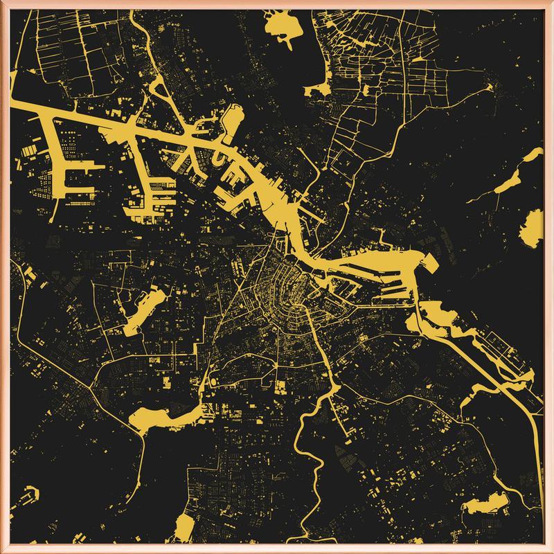 Amsterdam Yellow -Poster im Alurahmen