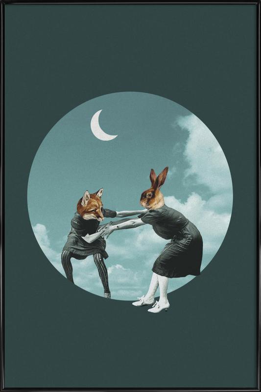 Chase the Night Gerahmtes Poster | Dekoration > Bilder und Rahmen > Poster | Mehrfarbig