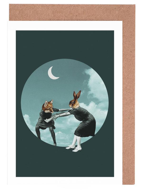 Chase the Night Grußkartenset | Dekoration > Accessoires | Mehrfarbig