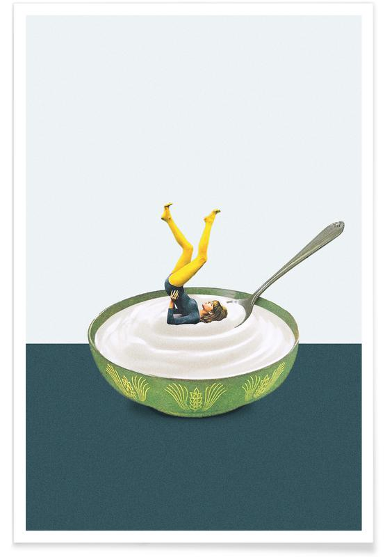 Yoga in My Yogurt Poster