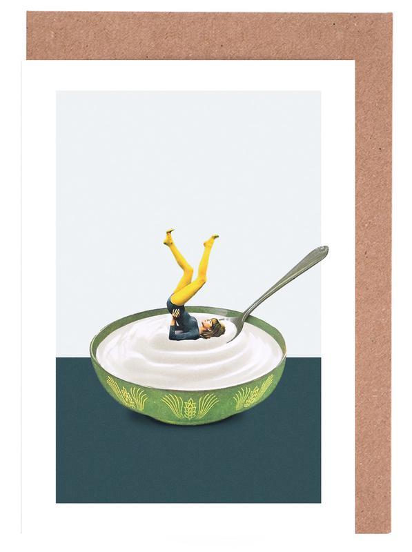 Yoga in My Yogurt Greeting Card Set