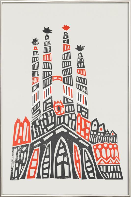 Sagrada Familia -Poster im Alurahmen