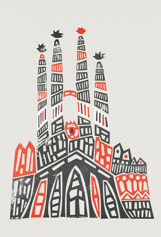 Sagrada Familia -Acrylglasbild