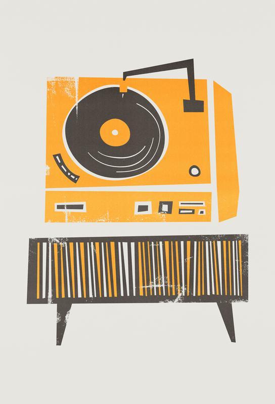 Vinyl Junkie Aluminium Print