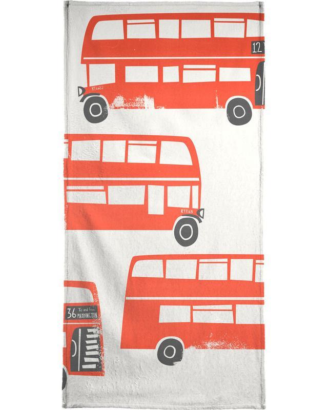 London Busses Bath Towel