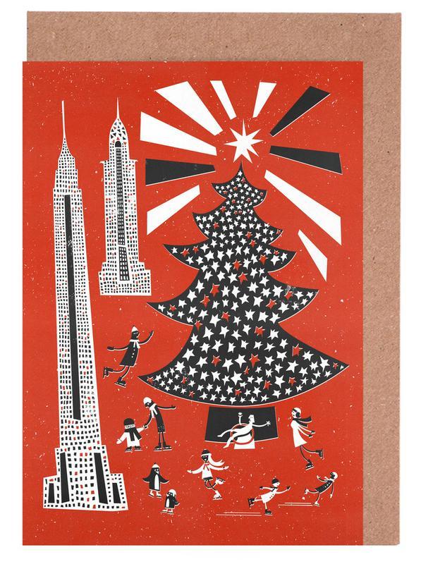 Christmas In New York -Grußkarten-Set