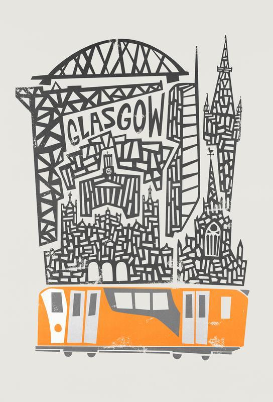 Glasgow Cityscape Aluminium Print