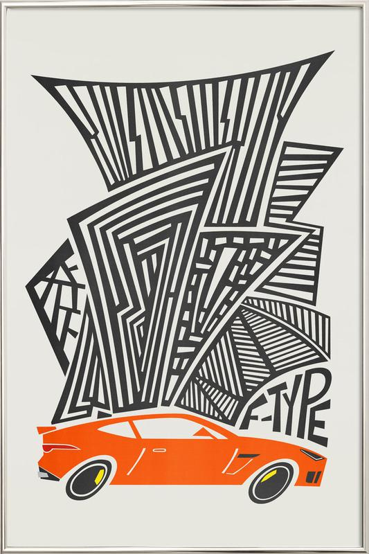 F Type Poster in Aluminium Frame