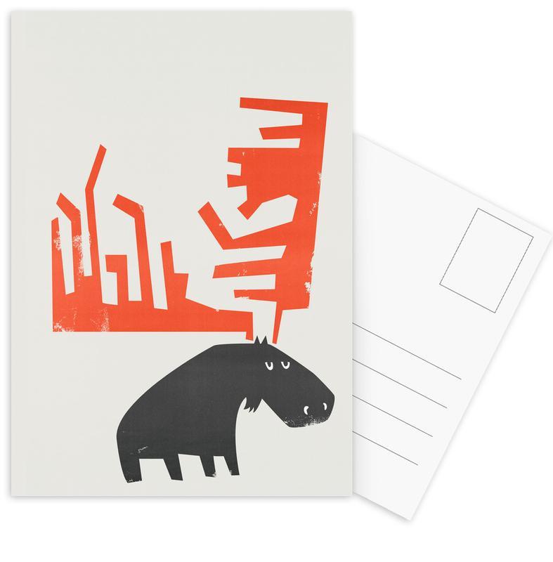 Grumpy Moose Postcard Set