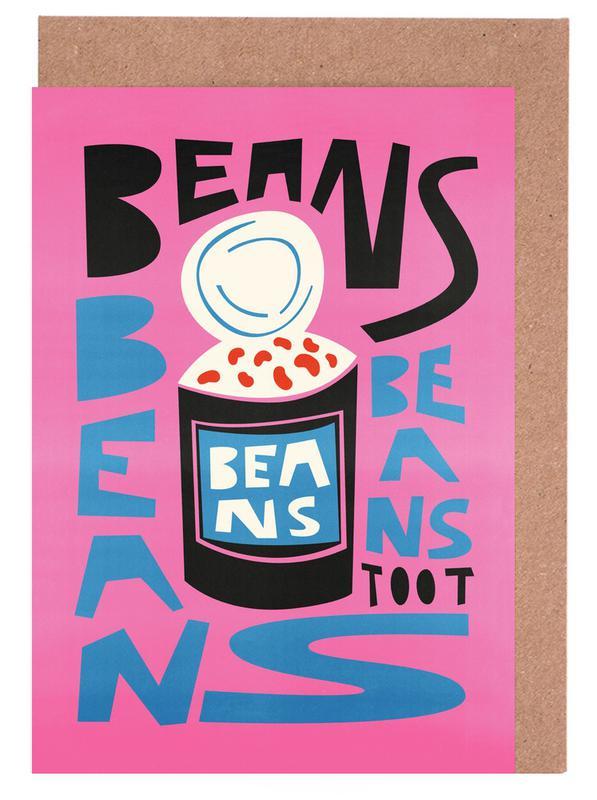 Beans Beans Beans -Grußkarten-Set