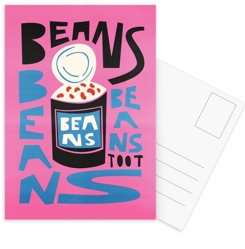 Beans Beans Beans Postcard Set