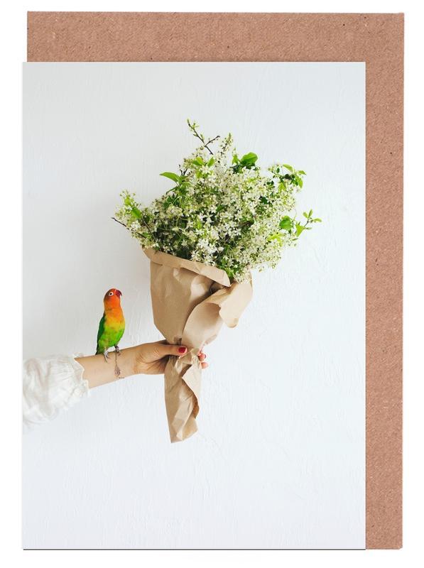 Parrot And A Girl -Grußkarten-Set
