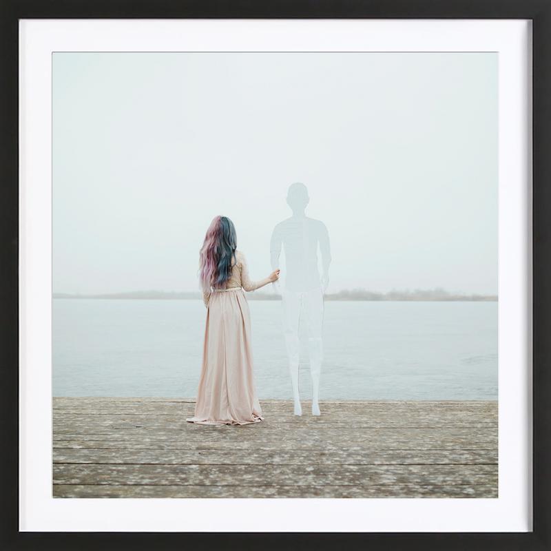 Imaginary Love -Bild mit Holzrahmen