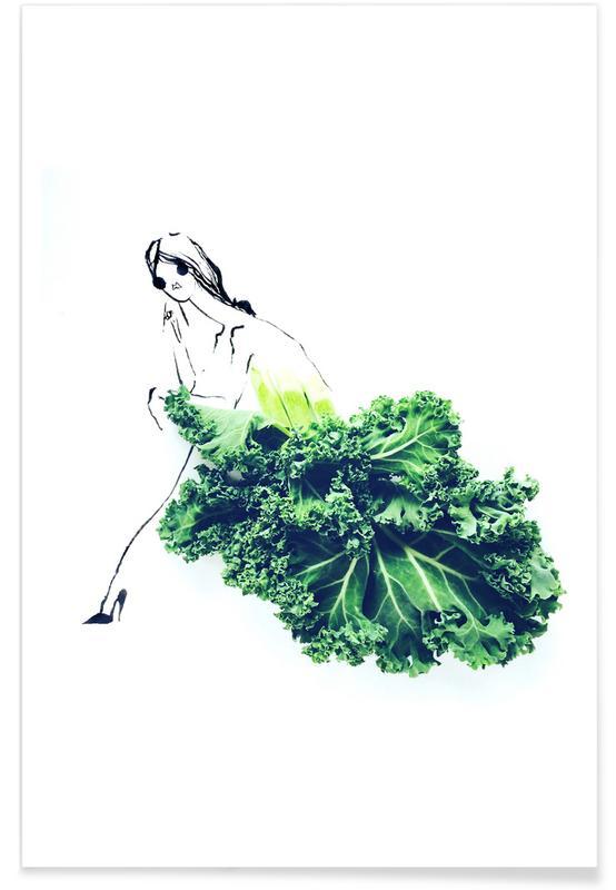 Kale Fashion Sketch Poster