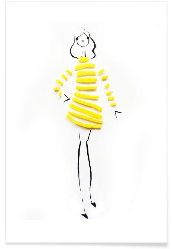 Lemon Fashion Sketch Poster
