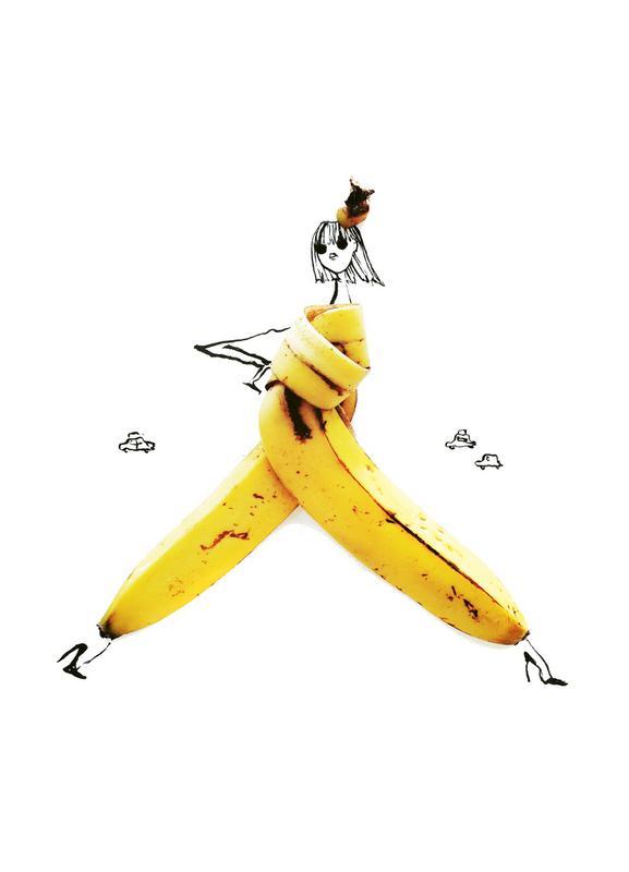 Banana canvas doek