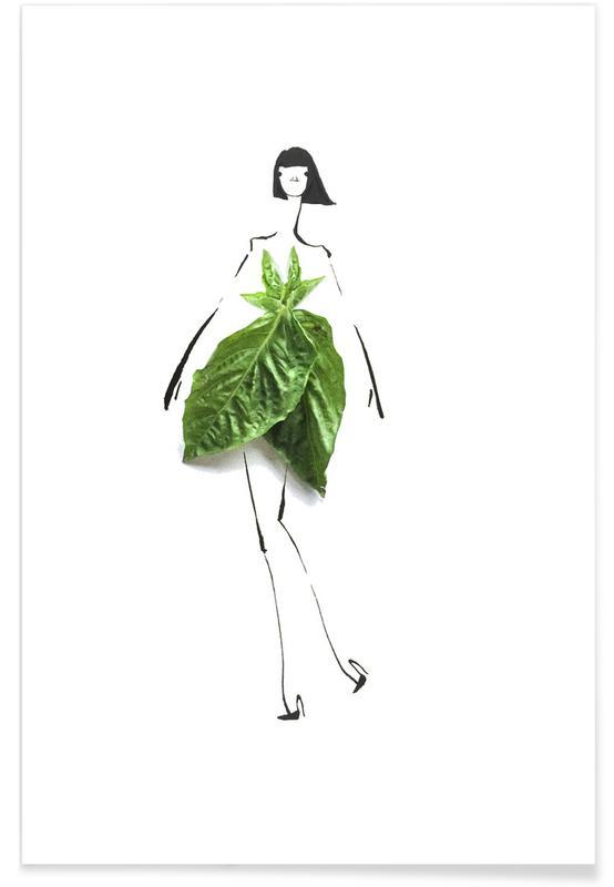 Basil Fashion Sketch Poster