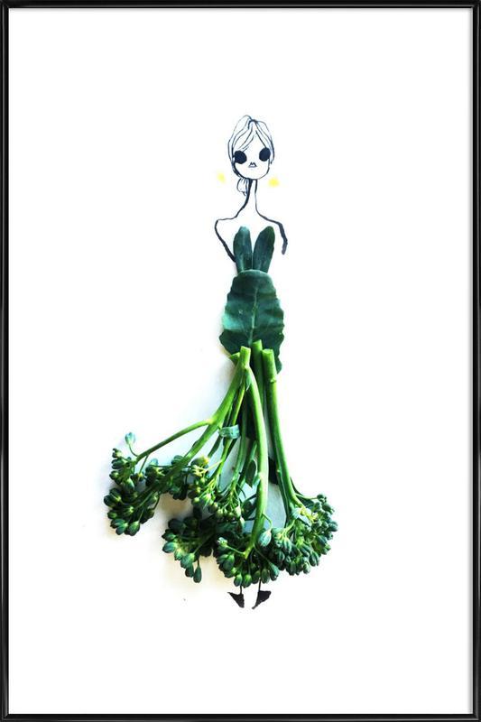 Broccoli affiche encadrée