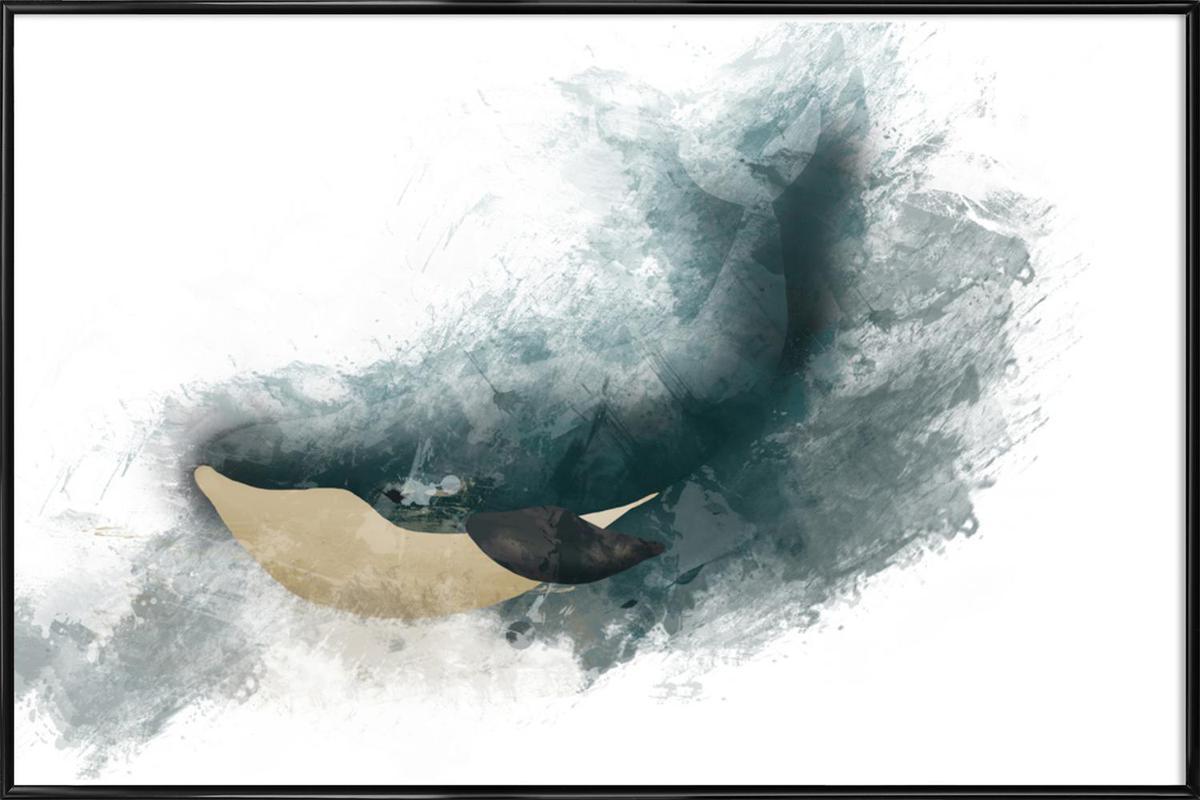 Wal -Bild mit Kunststoffrahmen
