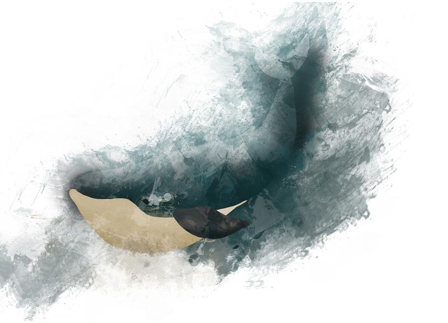 Wal -Leinwandbild