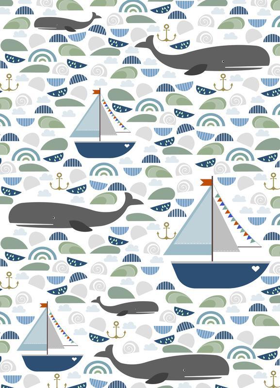 Whale -Leinwandbild