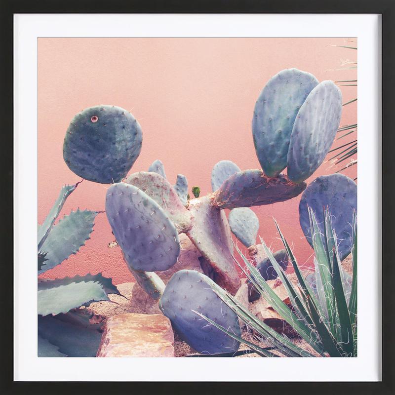 Into the Tropics (Pink) -Bild mit Holzrahmen