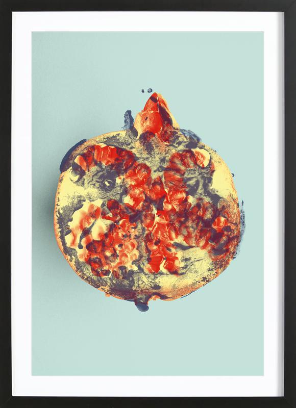 Ode aux Légumes - Pomegranate -Bild mit Holzrahmen