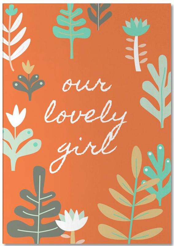Our Lovely Girl Notizblock   Dekoration > Accessoires   Mehrfarbig   Papier