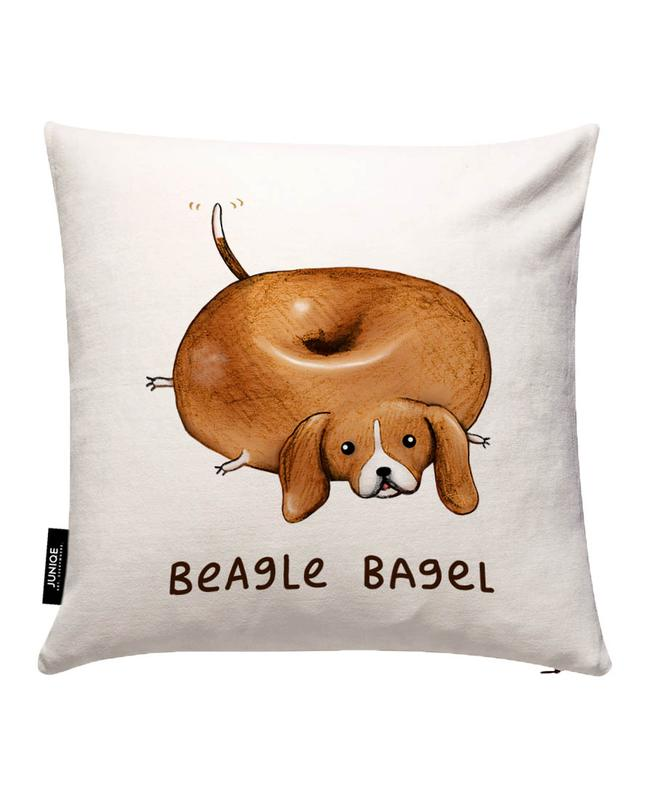 Beagle Bagel Cushion Cover
