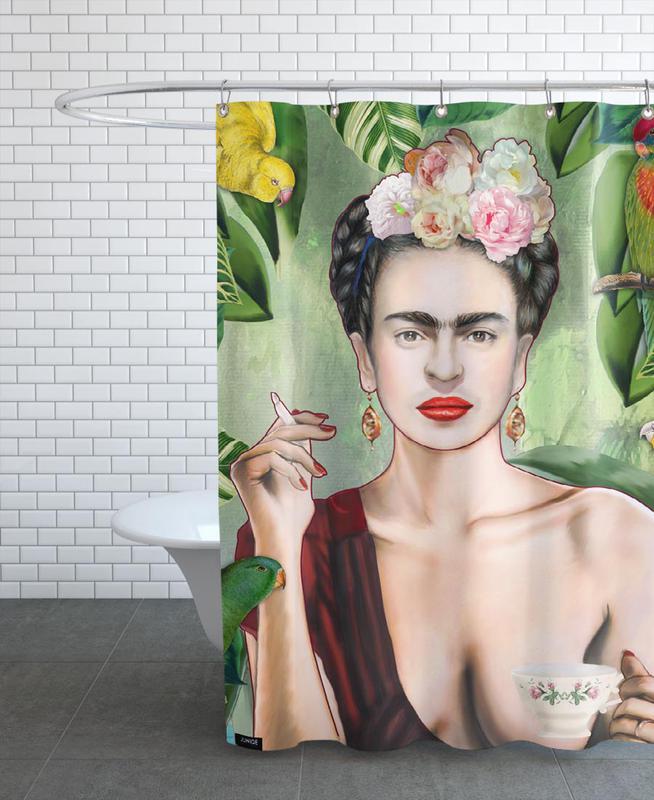 Frida Con Amigos Shower Curtain