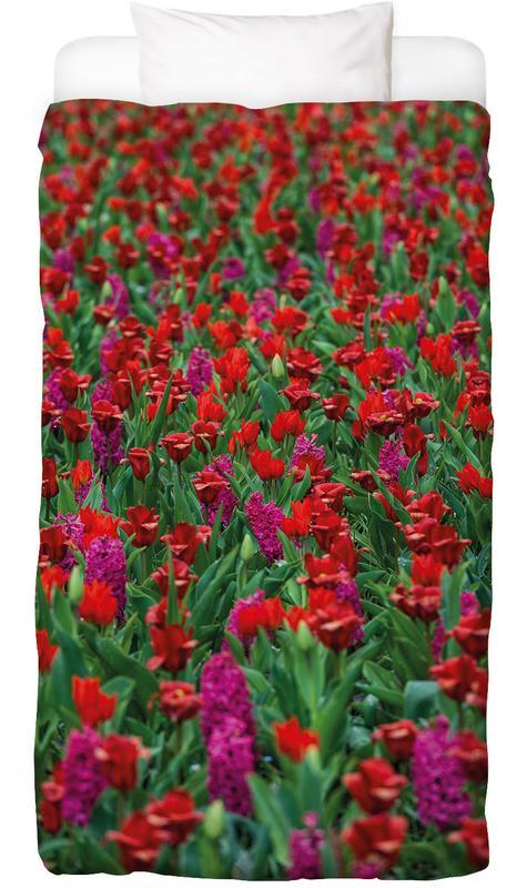 Tulip Field Red -Kinderbettwäsche