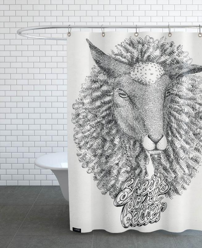 Sheeps Do It Better Shower Curtain