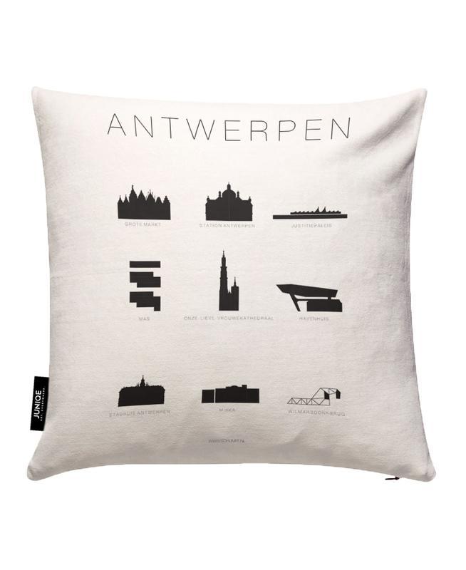 Antwerpen JUNIQE Kissenhülle | Heimtextilien > Bettwäsche und Laken > Kopfkissenbezüge | Mehrfarbig | Baumwollstoff