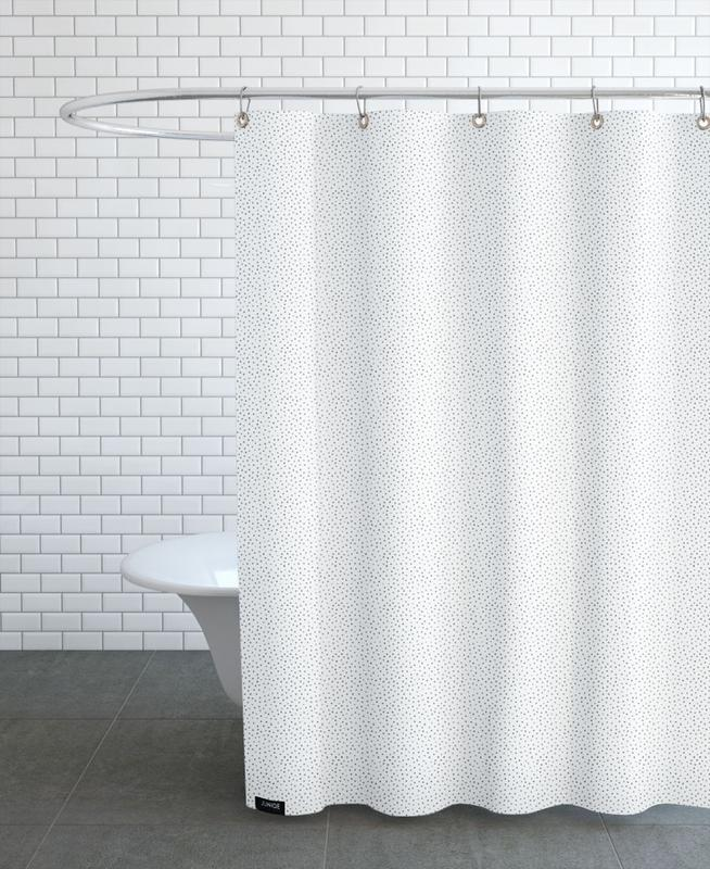 Grey Watercolor Dots Shower Curtain