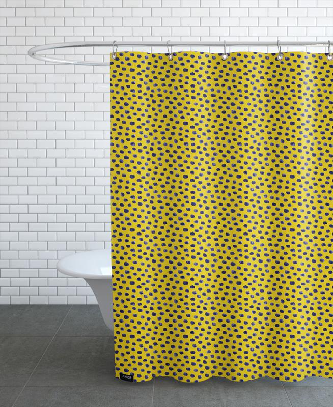 Blueberry Dots Shower Curtain