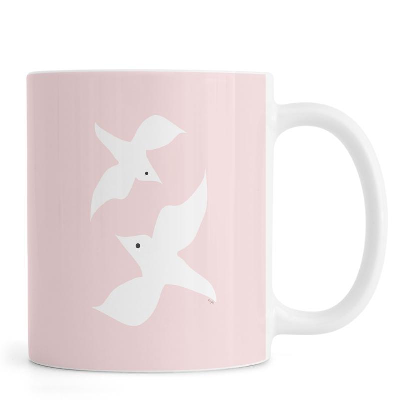Tropical Bird in Pink Tasse