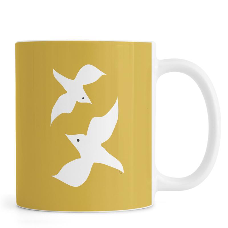 Birds in Mustard Tasse